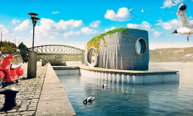 Protozoon – Une maison flottante unique imprimée en 3D 2