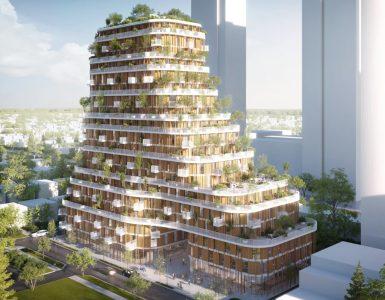 Urban Agency dévoile un gratte-ciel couvert d'arbres